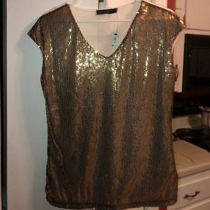 Gold sequin shirt. Size medium. Brand new